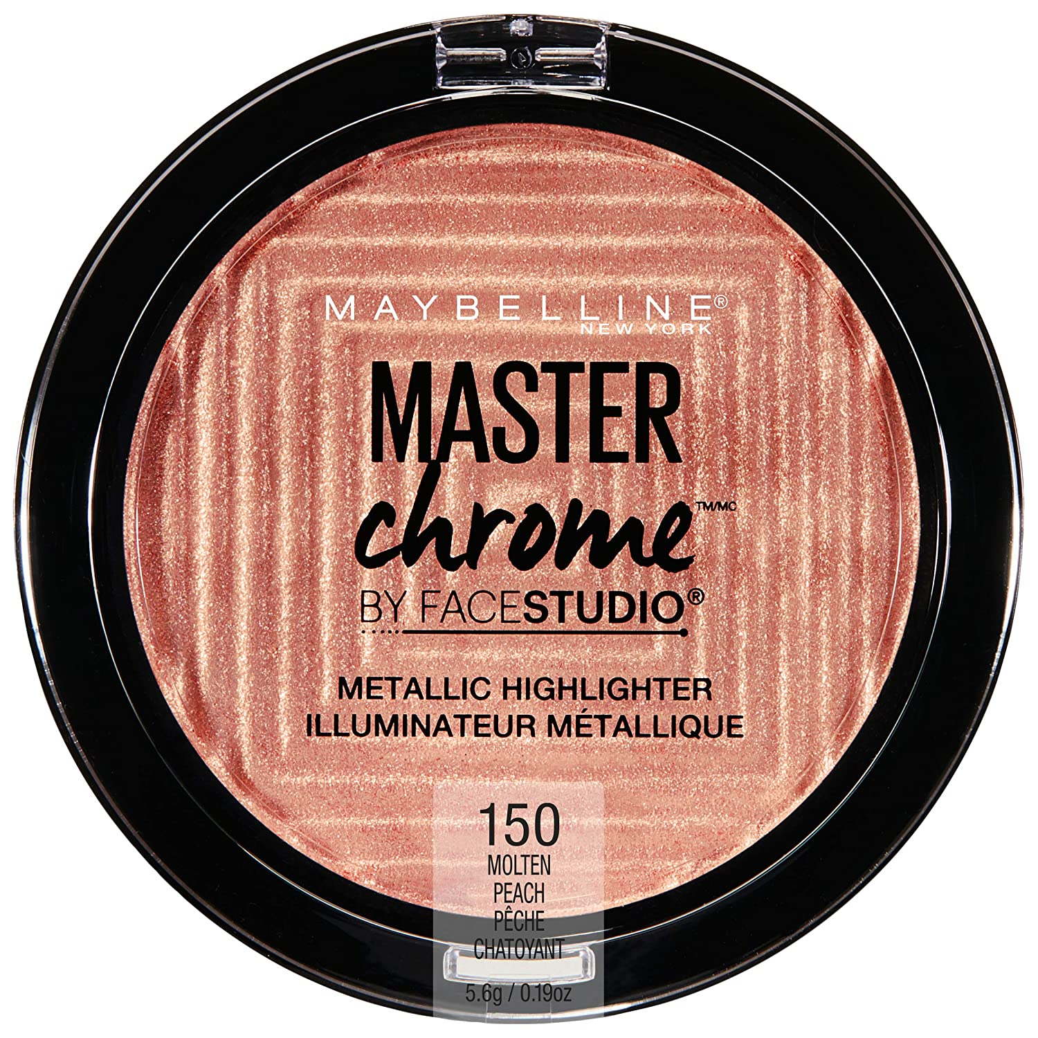 Maybelline New York Facestudio Master Chrome Metallic Highlighter Makeup, Molten Topaz, 0.19 oz. 041554553925