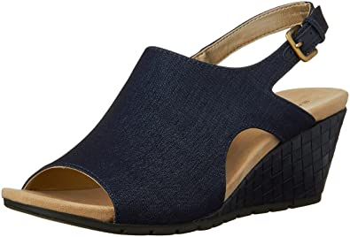 Bandolino Women's Galatee Wedge Sandal, Navy, ...