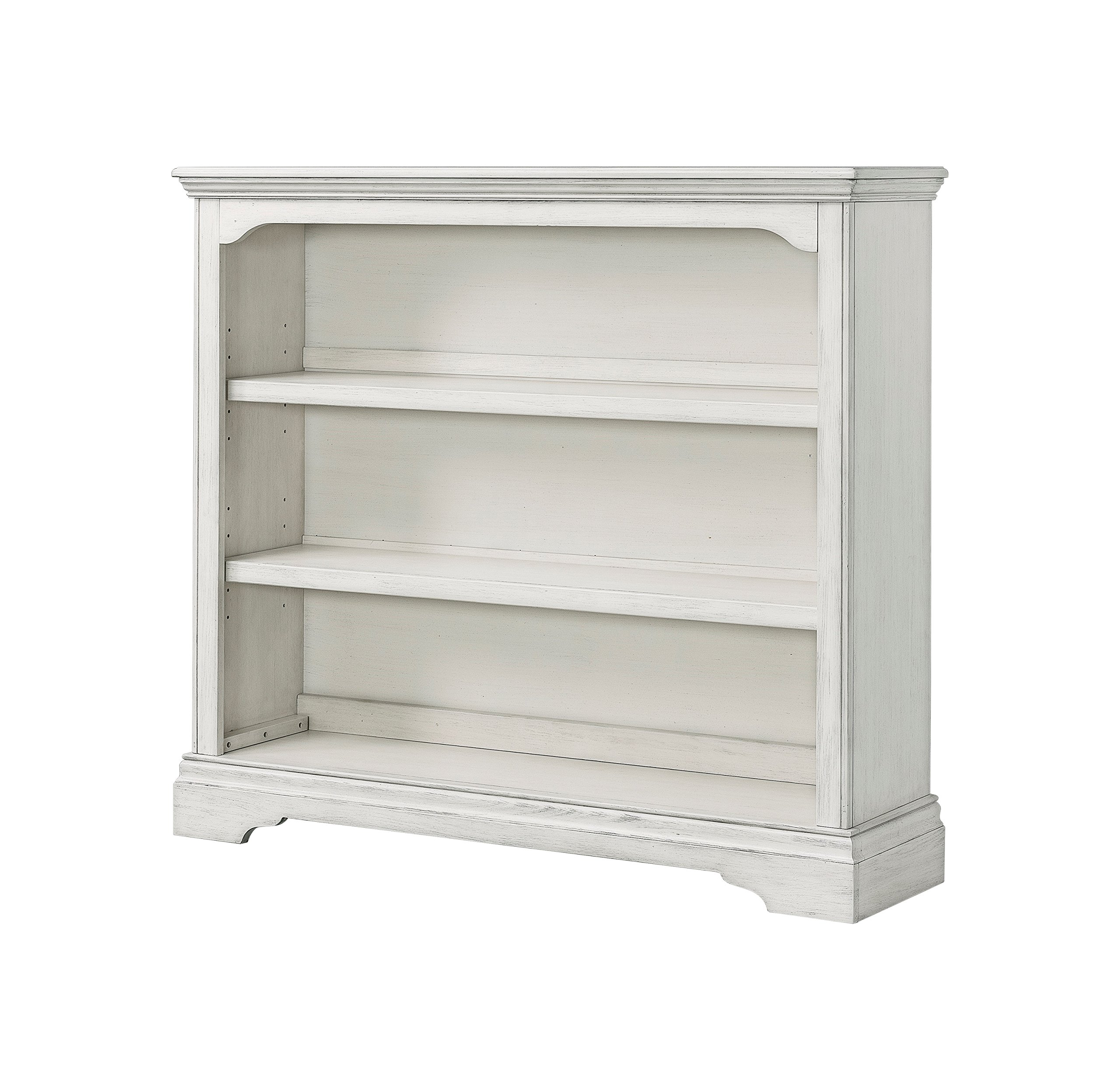 Westwood Design Riley Convertible Hutch Bookcase, Brushed White