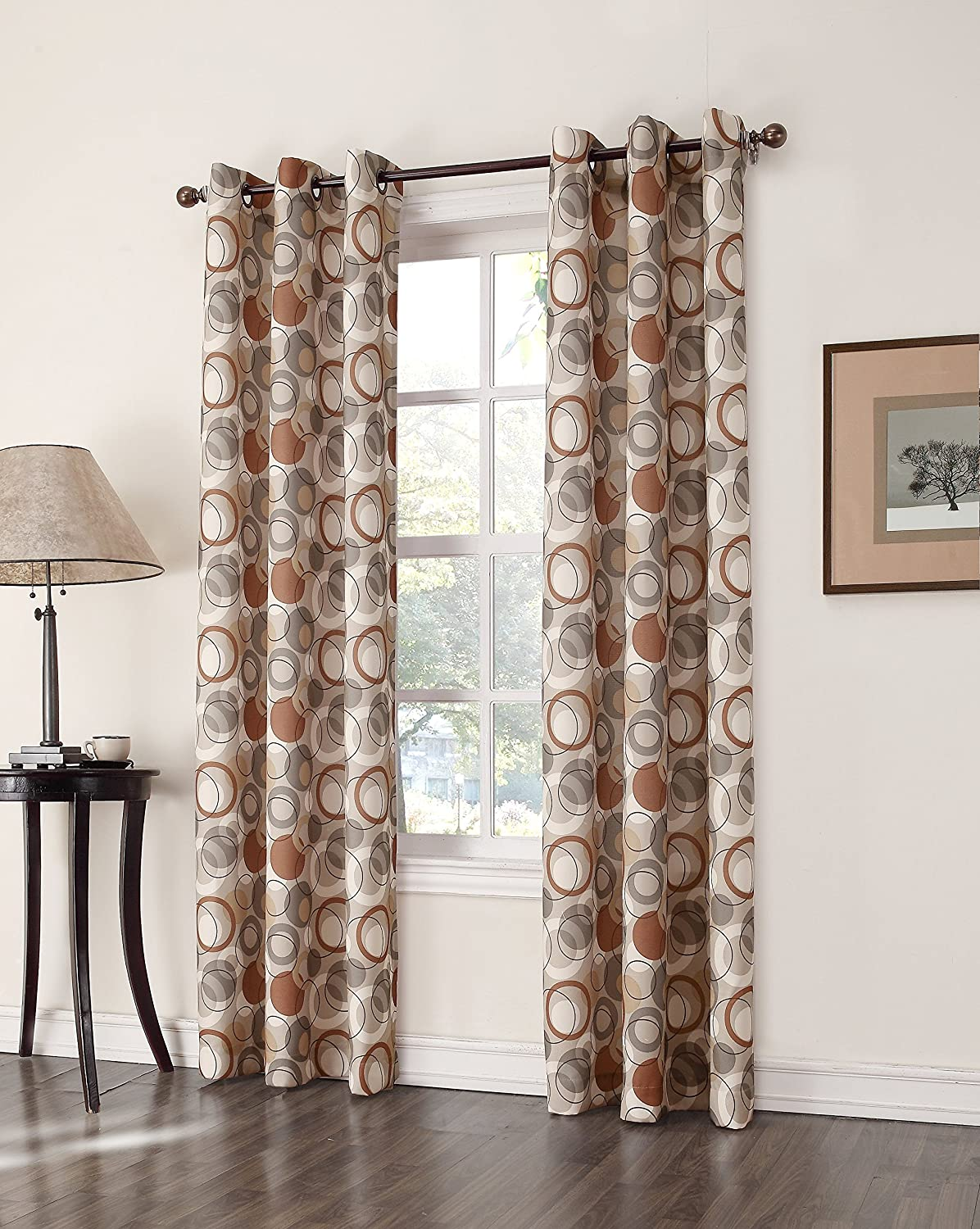 Superb 918 Celestial Grommet Curtain Panel, 48 By 84 Inch, Taupe: Home U0026 Kitchen