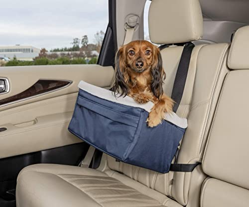 PetSafe Happy Ride Pet Booster Seat for Cars,Trucks and SUVs- Adjustable Safety Tether for Dogs – Secured by Seat Belt – Durable Liner is Machine-washable and Easy-to-Clean -Multiple Sizes and Colors
