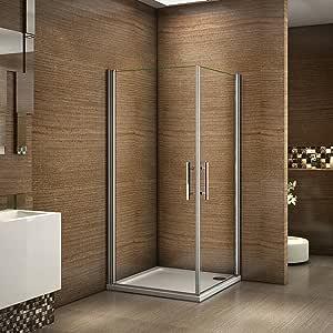 Cabina de ducha con 2 puertas y baqueta plegable de 180 grados ...