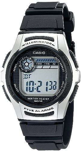 Casio Mens W213-1AVCF Basic Black and Silver Digital Watch