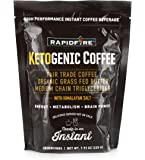 Rapid Fire Ketogenic Fair Trade Coffee Instant Mix, 7.93 oz. Bag (15 servings)