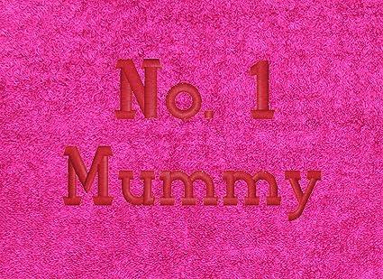 Bordado Mummy rosa toalla de Golf GT48 con gancho de sujeción