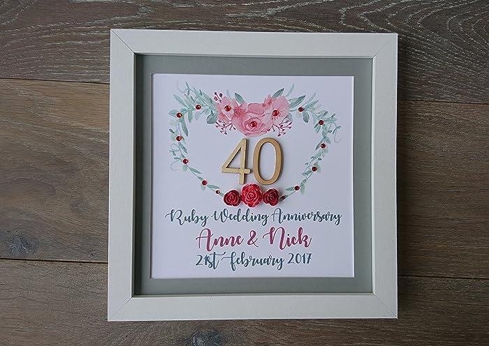 Ruby Wedding Anniversary 40th Gift