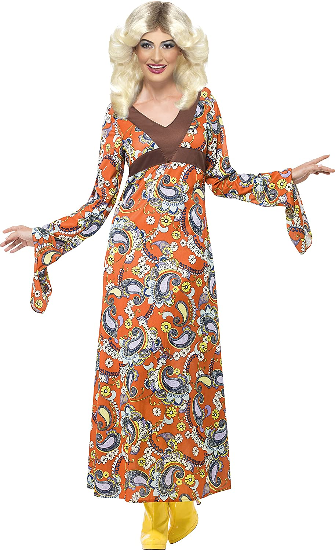sc 1 st  Amazon.com & Amazon.com: Smiffyu0027s Womenu0027s Woodstock Maxi Dress Costume: Clothing