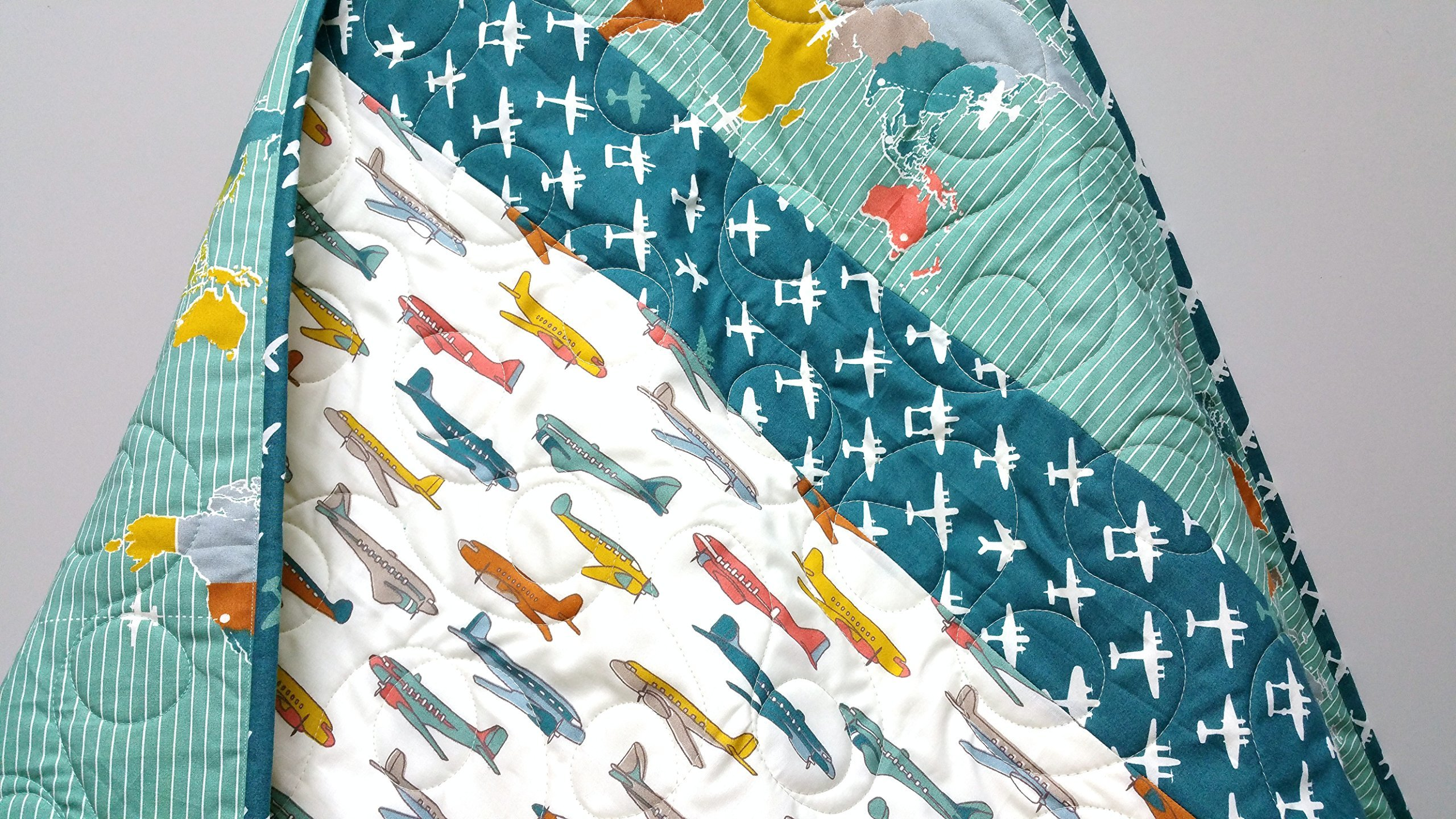 Organic Baby Airplane Quilt