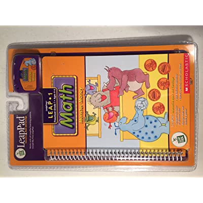 "LeapPad: Leap 1 Math - ""Monster Money"" Interactive Book and Cartridge: Toys & Games"