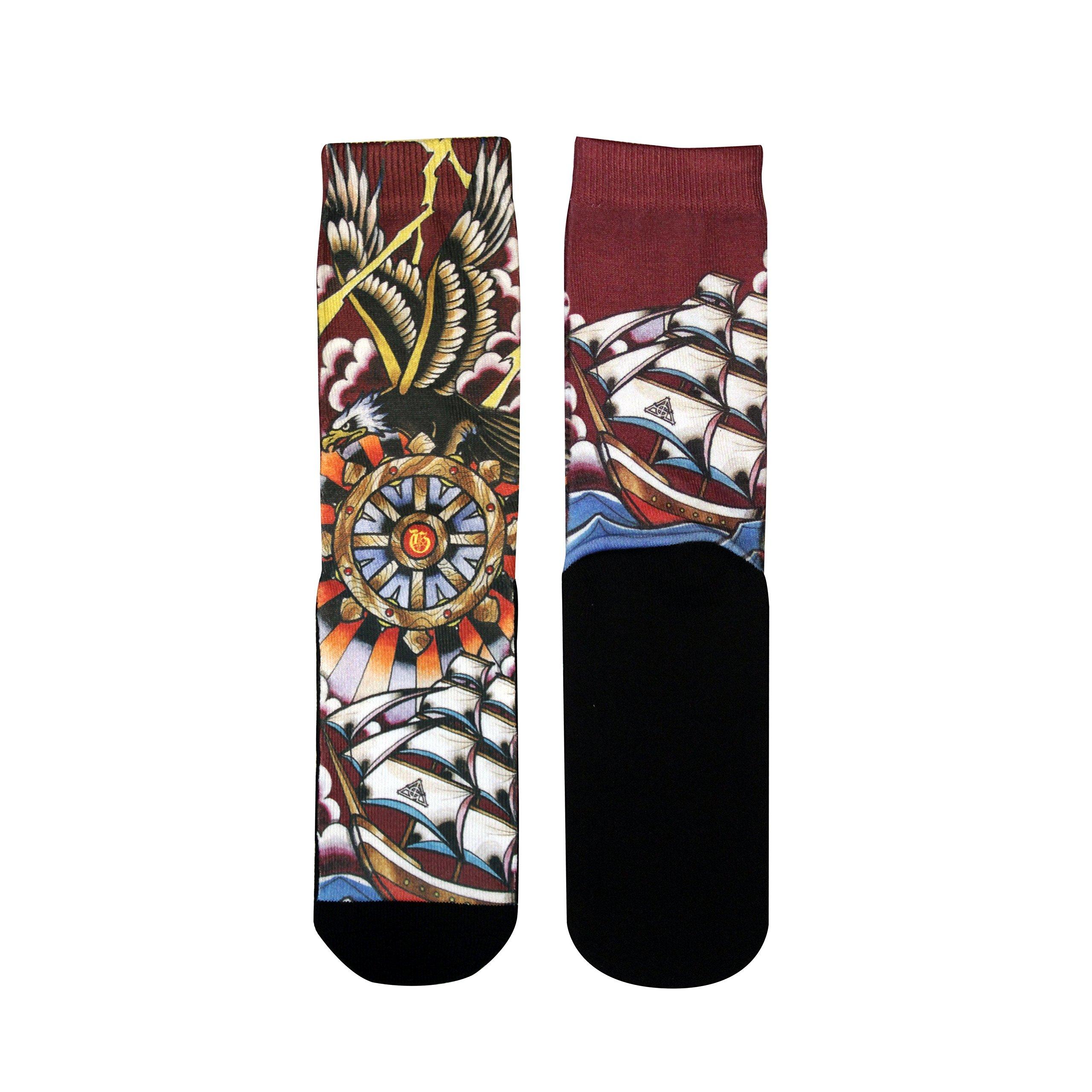 Custom Socks Elite Tattoo Art Collection Stance Fits 6-12 Gold ink (Eagle)