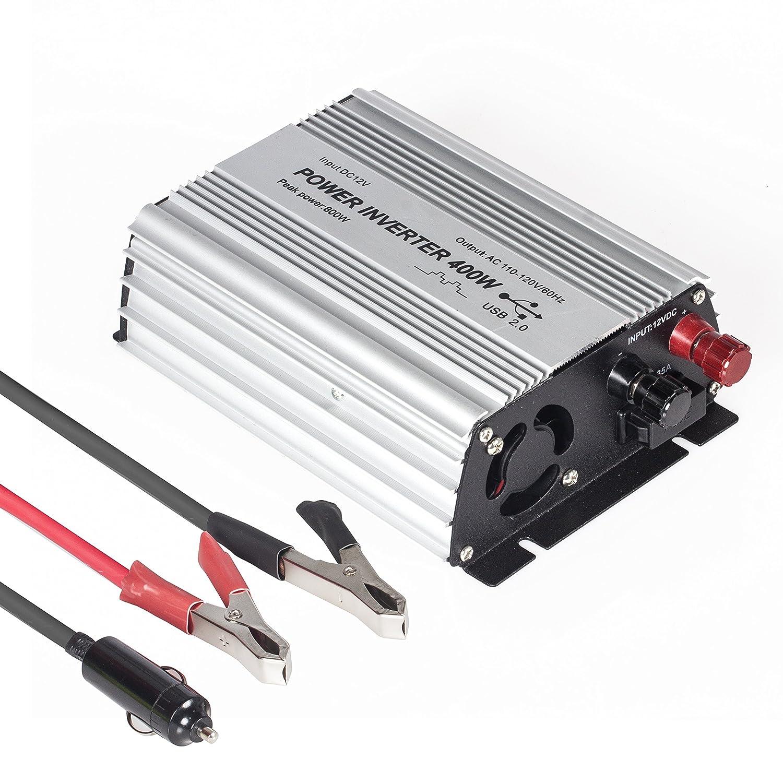 Amazon.com: E-LION 400W Power Inverter DC 12V,Output 110V-120V AC Car  Inverter with USB Car Adapter: Toys & Games