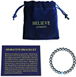 Believe London Hematite Magnetic Therapy Bracelet with Jewelry Bag & Meaning