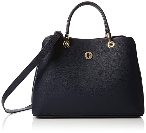 Tommy Hilfiger - Th Core Satchel, Bolso Mujer, Azul (Tommy Navy),