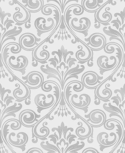 Fine Decor 2900 41703 Wentworth Grey Damask Wallpaper