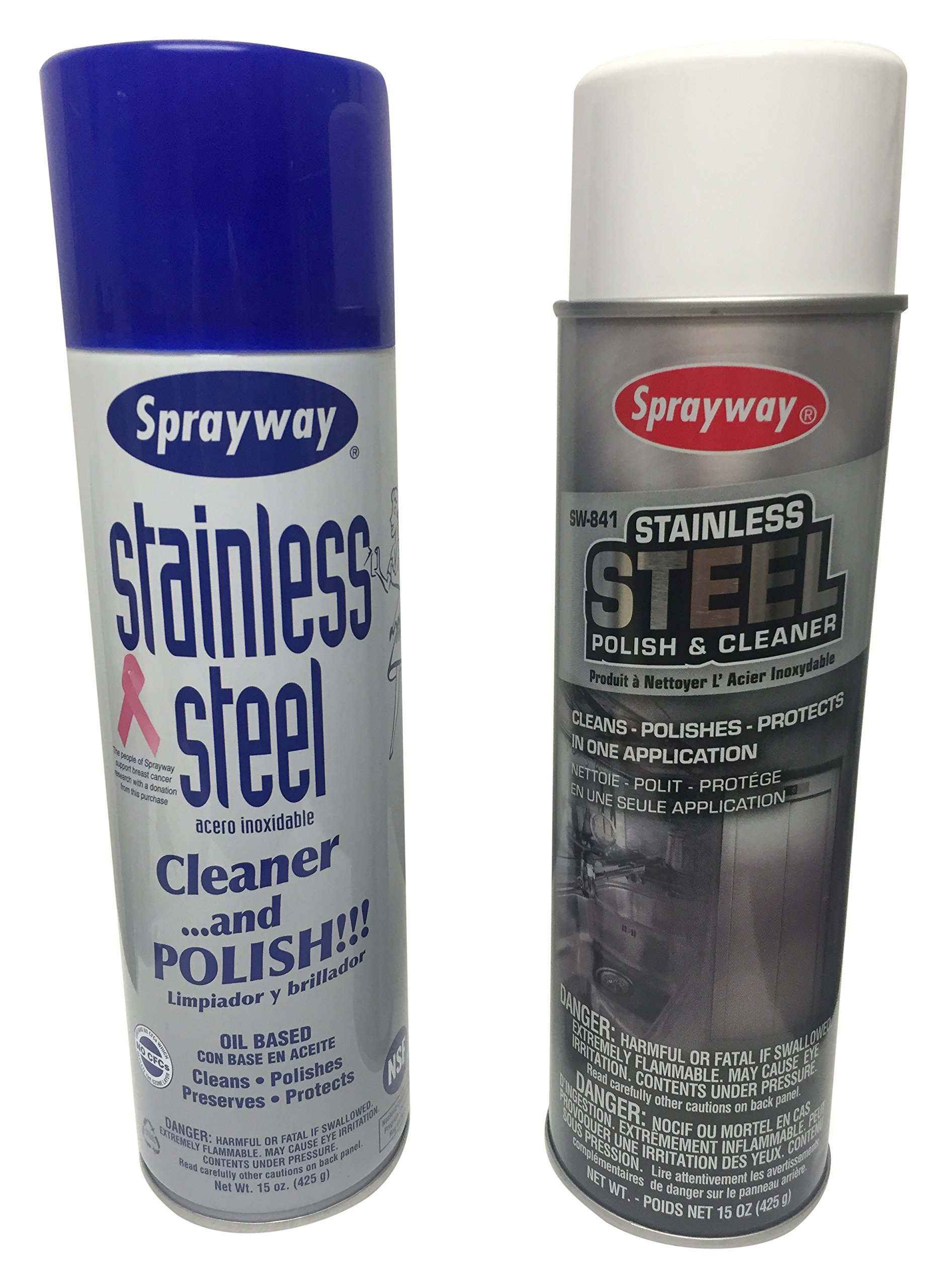 10 X 15oz Sprayway Stainless Steal Cleaner and Polish (package may vary) by Sprayway (Image #1)