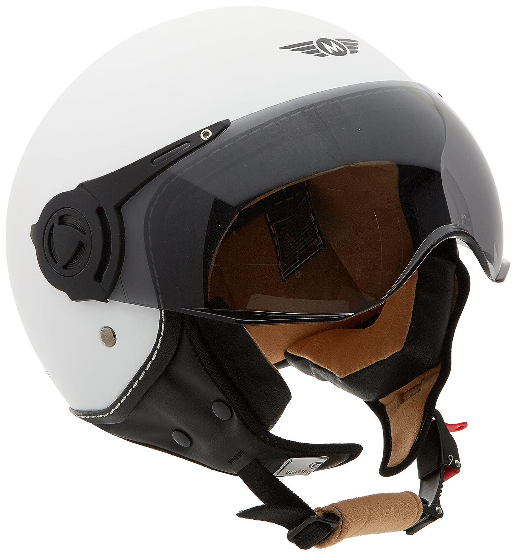 Sun Visor /· incl MOTO H44 Vintage Titan /· Scooter-Helmet Cruiser Vespa-Helmet Vintage Chopper Retro Jet-Helmet Pilot Moto-Helmet Biker Mofa Bobber /· ECE certified /· incl 55-56cm Cloth Bag /· Grey /· S