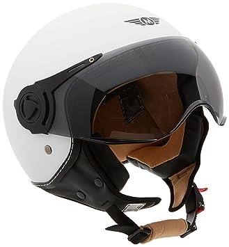 Moto Helmets H44 - Helmet Casco de Moto , Blanco Matte, L (59-