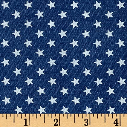 Amazon com: TELIO Stretch Printed Denim White Stars Medium