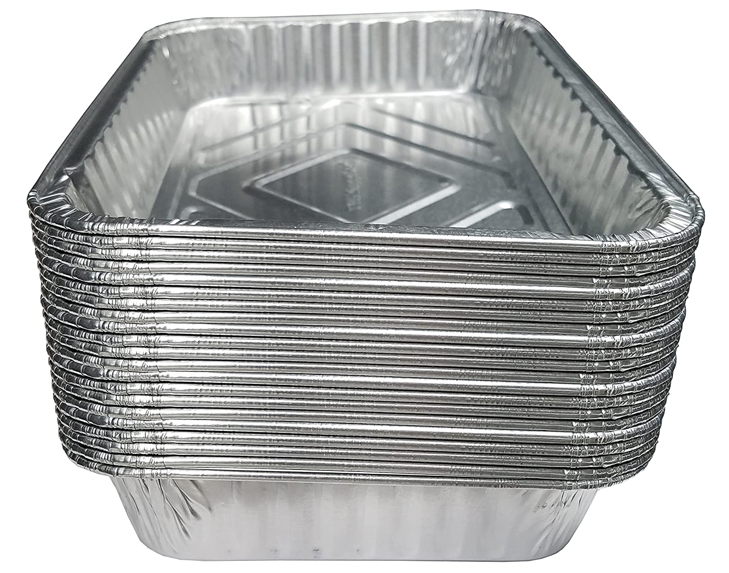 "TYH Supplies Aluminum Foil BBQ Grease Drip Pans for Weber Grills Q, Pulse, Spirit, Spirit II, Genesis II LX 200 and 300 Series Gas Grill 7.5"" x 5"", 20-Pack"