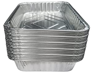 """TYH Supplies Aluminum Foil BBQ Grease Drip Pans for Weber Grills Q, Pulse, Spirit, Spirit II, Genesis II LX 200 and 300 Series Gas Grill 7.5"""" x 5"""", 20-Pack"""