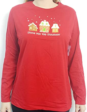 2617707c Just My Size Christmas Holiday Long Sleeved T-Shirt at Amazon Women's  Clothing store: