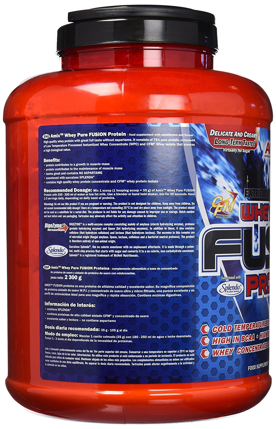 Amix Whey Pure Fusion Proteínas - 2300 gr_8594159538801