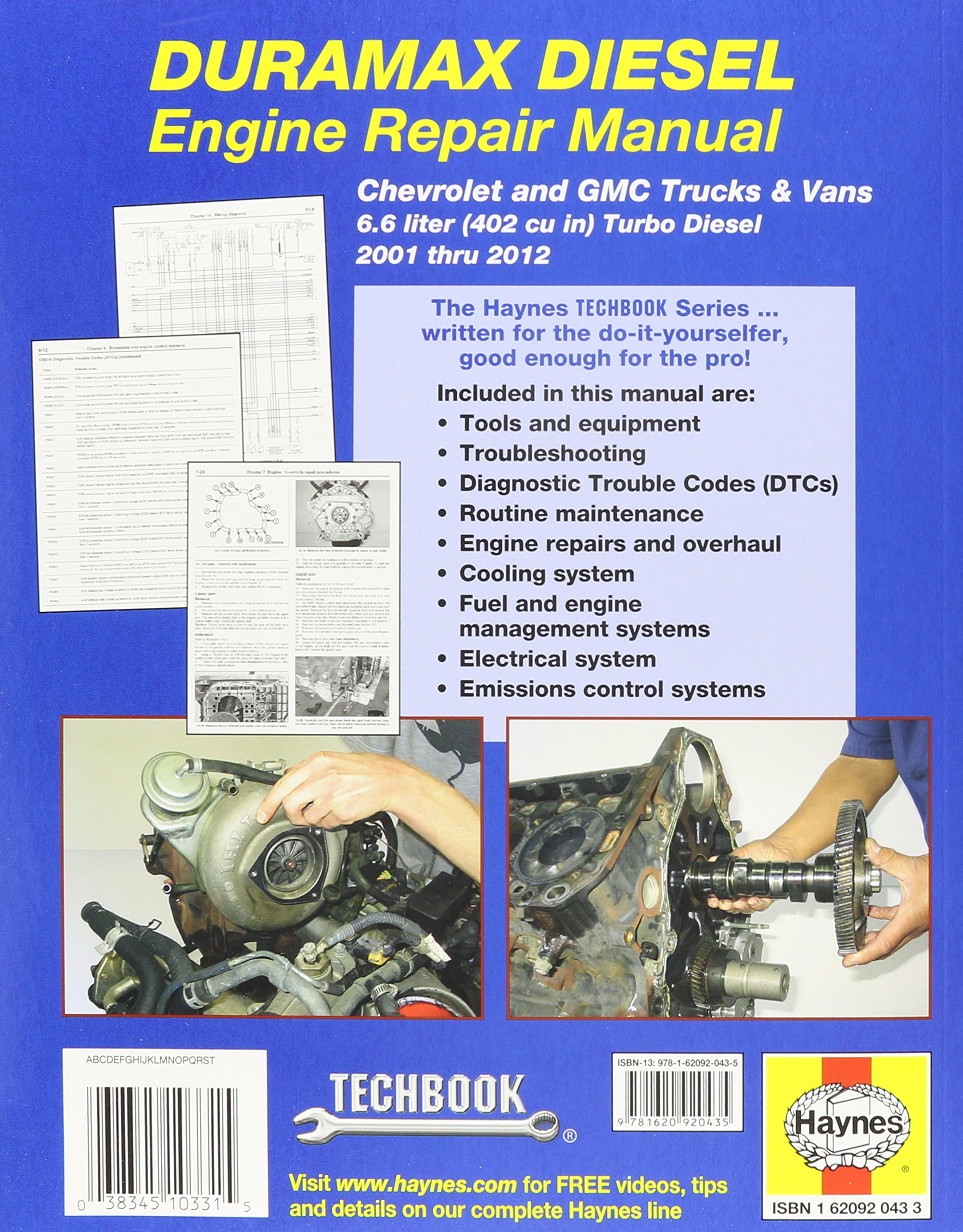 haynes techbook duramax diesel engine repair manual 2001 2012 rh amazon com Silverado Duramax Kyocera Duramax Manual