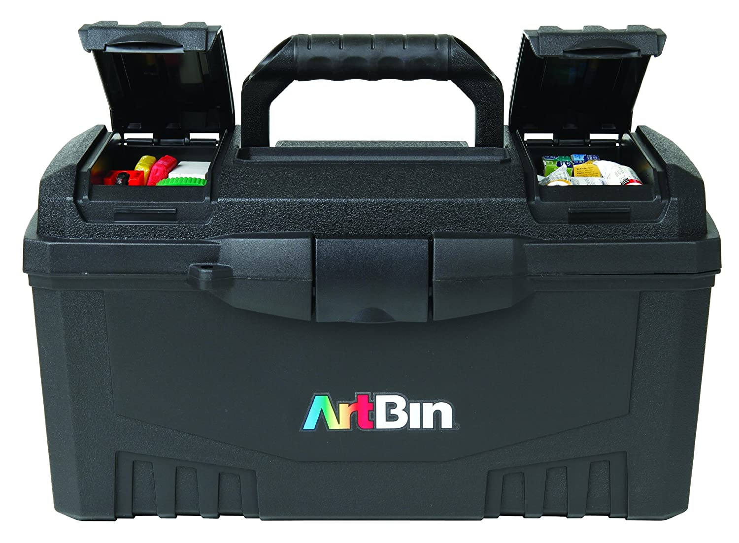Other Home Arts & Crafts Black Art And Craft Supply Storage Container Special Buy Frank Artbin 17-inch Twin Top Tool Box
