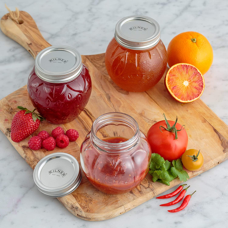 KILNER Tarro para conservas de Frutas de Fresa de 0,4 litros