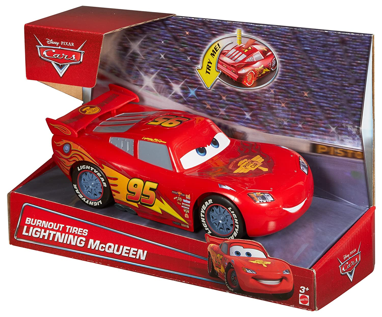Disney Pixar Cars Toy  Burnout Tires Lightning Mcqueen 9 Inch