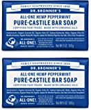 Dr. Bronner's Pure-Castile Bar Soap – Peppermint, 5 oz, 2 Pack