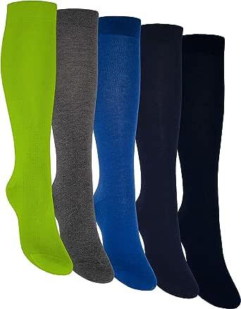 OCERA 5 pares de calcetines hasta la rodilla unisex en diferentes colores
