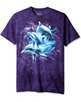 The Mountain - - Collage Homme Dolphin T-shirt, XX-Large, Multi