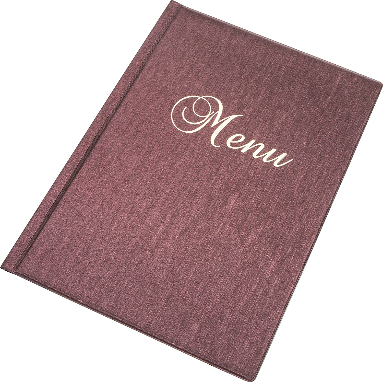 DISPLAY CATERING TAVOLO RED METALLIC MENU PORTA A4 Size 12 pagine Ristorante Pub HOTEL
