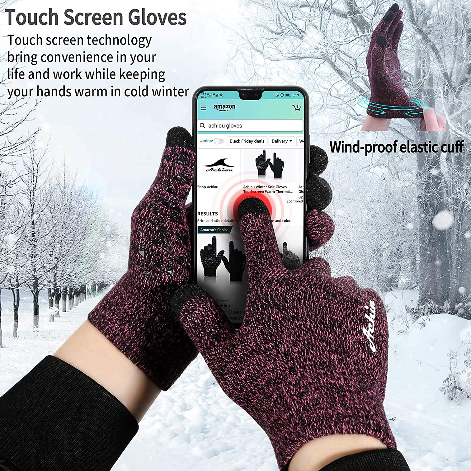 Gloves make the warmest gift for your loved one that she is going to cherish a lot. These gloves feature thermal lining that makes them very warm and comfortable. You can also do your everyday task while wearing them.