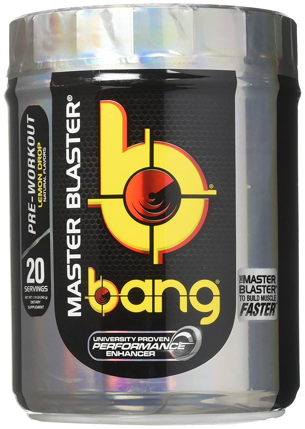 Amazon.com: VPX Bang Pre-Workout Master Blaster, Lemon Drop, 20 Servings: Health & Personal Care