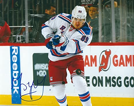 399983e4f7e Image Unavailable. Image not available for. Color: Autographed Pavel  Buchnevich 8x10 New York Rangers Hockey ...