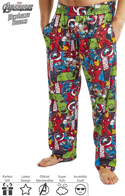 Marvel Pijama Hombre, Pantalones Largos de Pijama para Hombres Avengers, con Iron Man Capitan America Hulk y Thor, Ropa de Dormir 100% Algodon, Regalos Originales para Hombres (M): Amazon.es: Ropa y accesorios