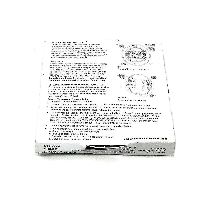 Amazon.com: Siemens DB-11 Detector Base DB-11/-11E/8853: Home Audio & Theater