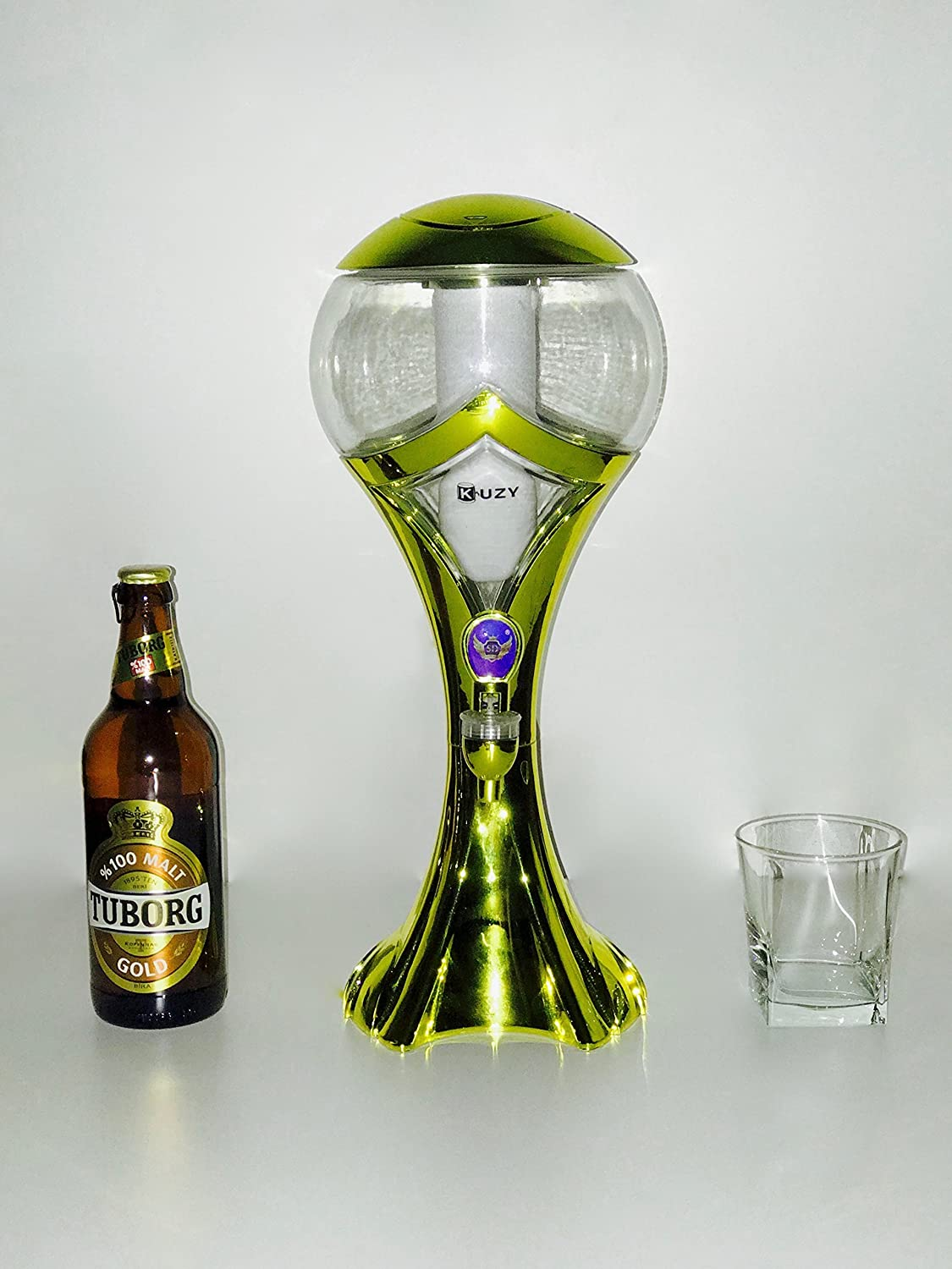 Amazon.com: Beer Dispenser World Cup Design by Kuzy. Portable Beer Tower, Aerator 2L with Changing Color Led inside. Feel the top enjoy.: Kitchen & Dining