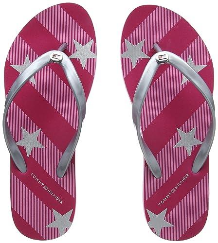8b6eff384 Tommy Hilfiger Women s Stars and Stripes Beach Sandal Flip Flops ...