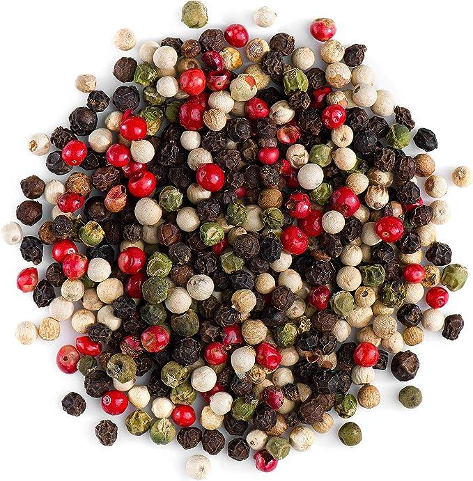 Cuatro Pimientas Colores En Grano - 4 Bayas Mezcla Pimientas Grano - 50g: Amazon.es: Alimentación y bebidas