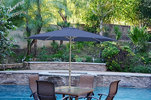 Jeco UBP95-UBF98 Aluminum Patio Market Umbrella Tilt, 9 Blue