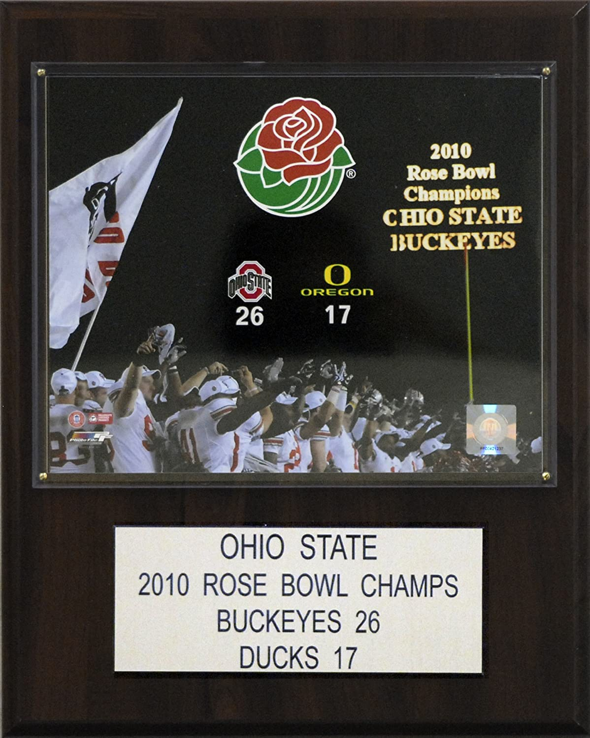 OHIO STATE BUCKEYES CHAMPIONS BANNER PLAQUE FOOTBALL NCAA NATIONAL CHAMPS