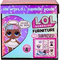 LOL Surprise Furniture Sweet Boardwalk with Sugar Doll and 10+ Surprises, Doll Candy Cart Furniture Set, Accessories