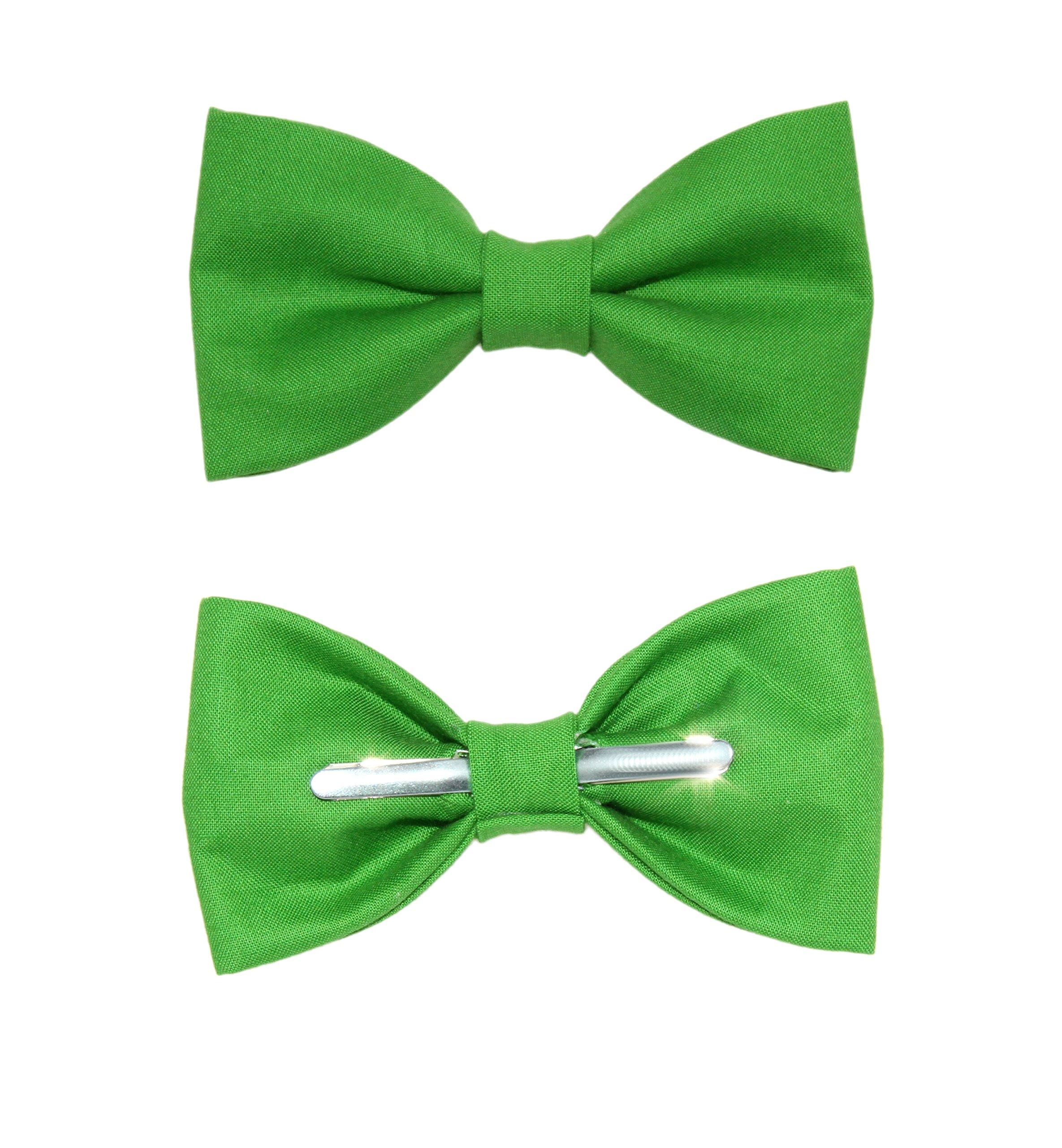 Toddler Boy 4T 5T Grasshopper Green Clip On Cotton Bow Tie