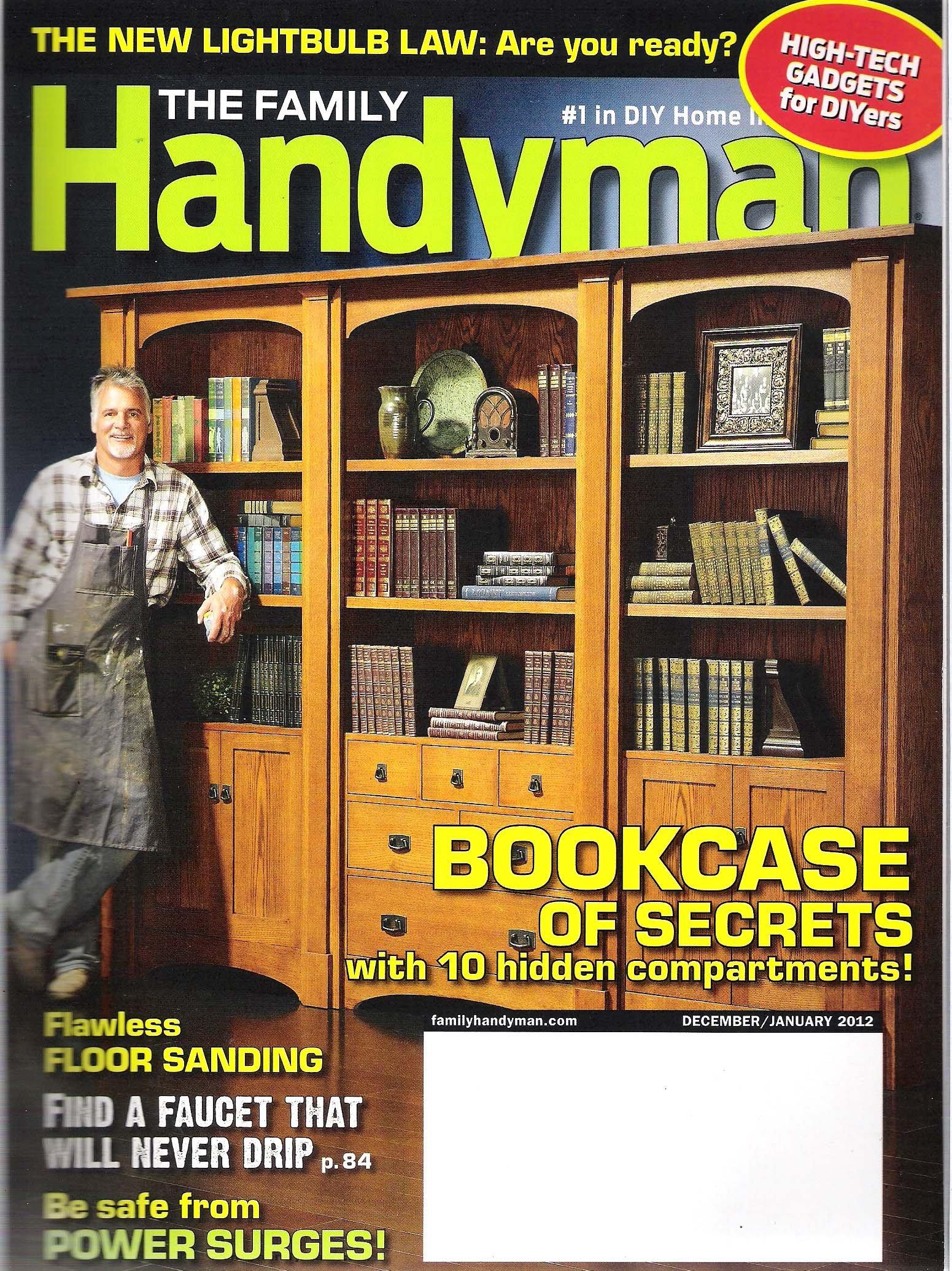 The Family Handyman Magazine Bookcase Of Secrets December