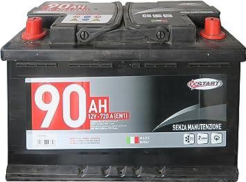 Batteria Auto 90AH 12V 720A polo positivo sinistro Cassetta L4B