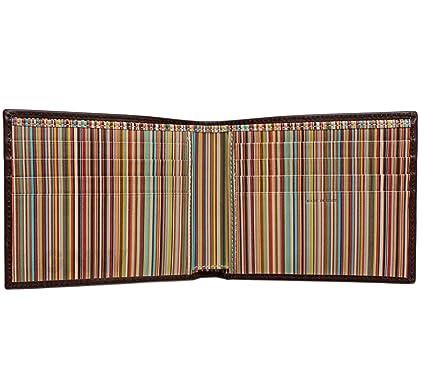 paul smith men signature stripe interior billfold wallet black