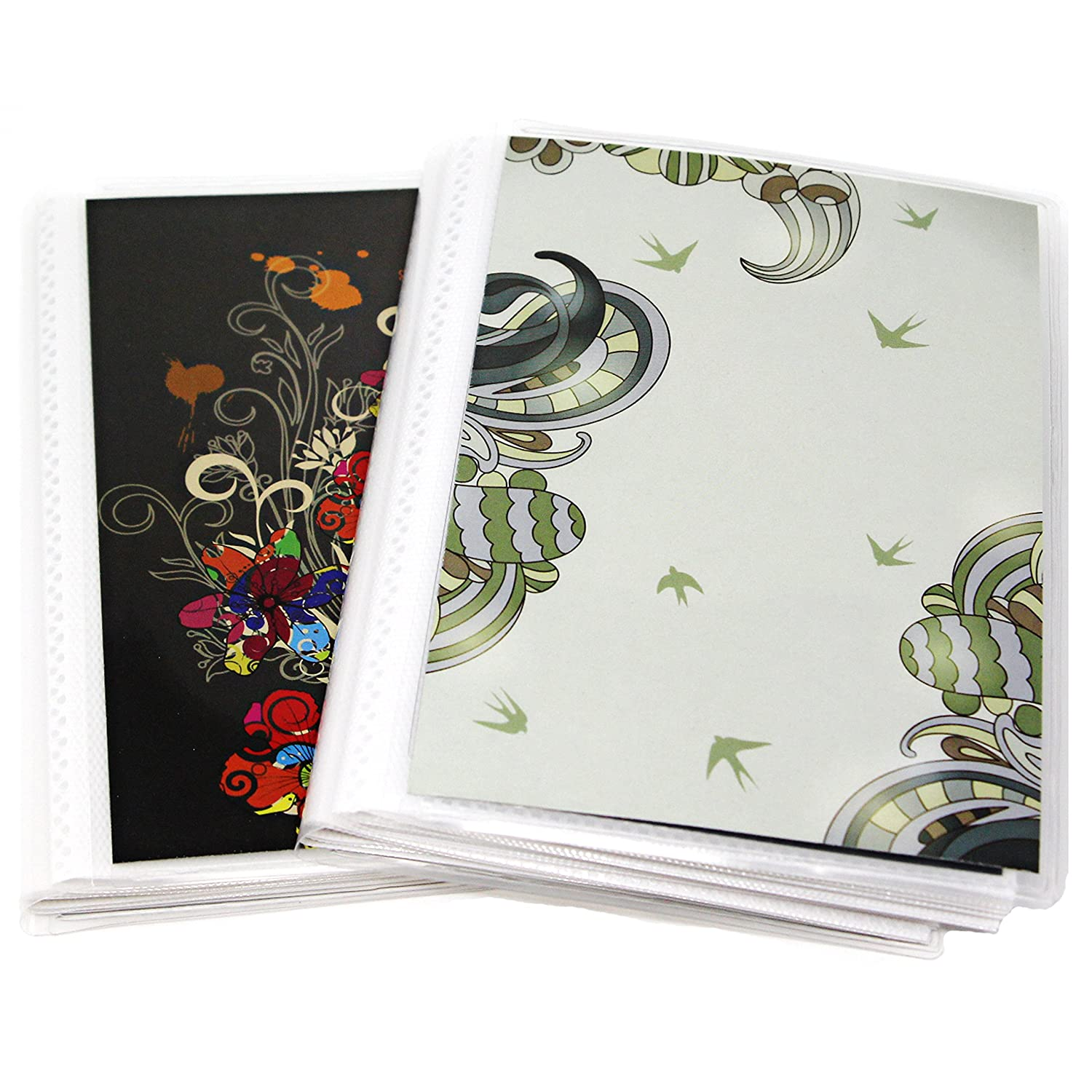 4 x 6 Photo Albums Pack of 2, Each Mini Photo Album Holds Up to 60 4x6 Photos. Flexible, removable covers come in random, assorted patterns and colors. CocoPolka